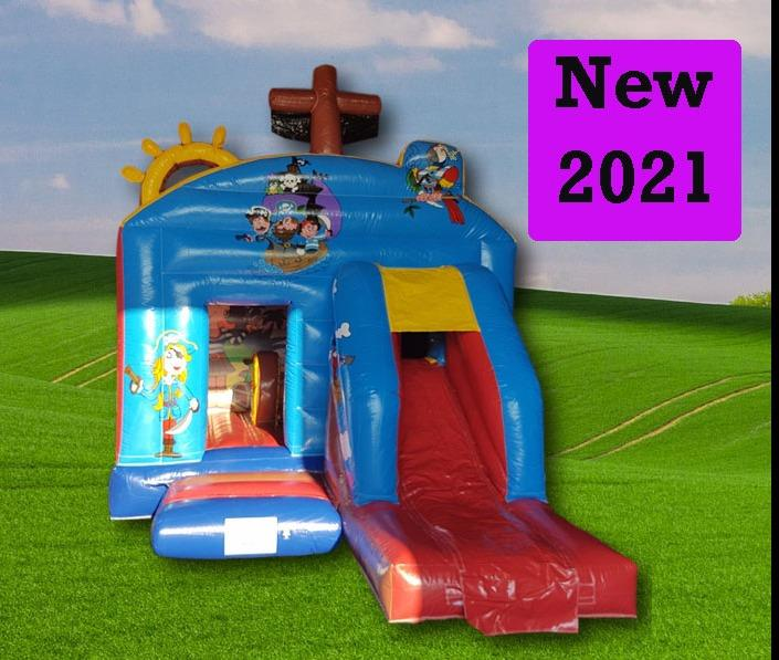 Pirate Front Slide Combo Bouncy Castle 1191