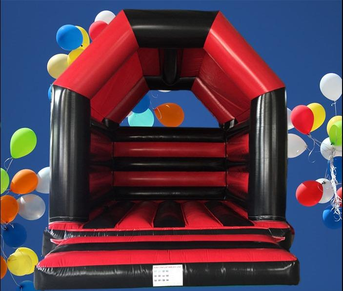 A Frame Red And Black Bouncy Castle AAA1093
