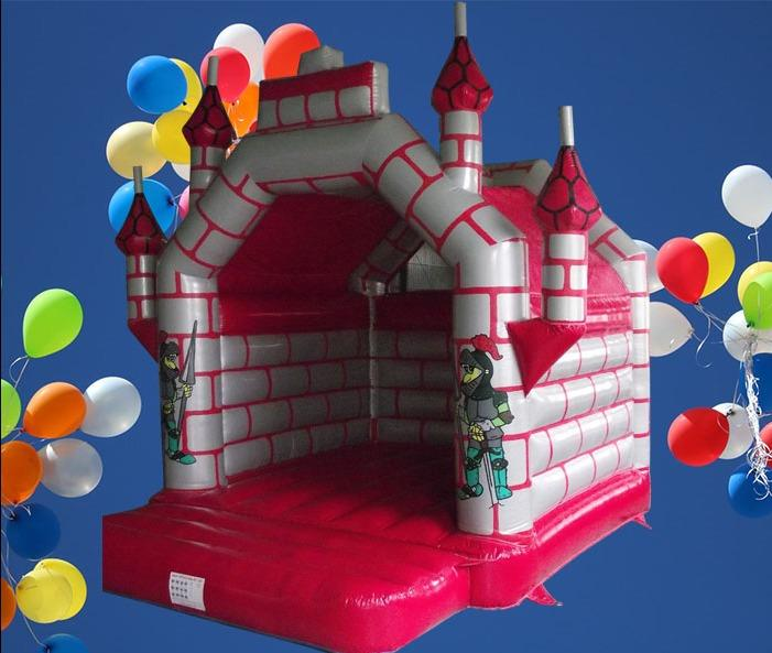 Castle Red and Silver 5m Adult Bouncy Castle 1078
