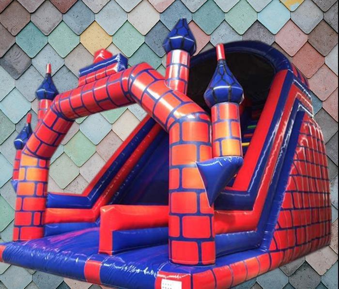 Red And Blue Castle Mega Slide 1068