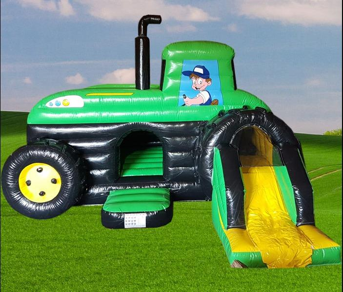 Tractor Bouncy Castle Slide Combo 1356