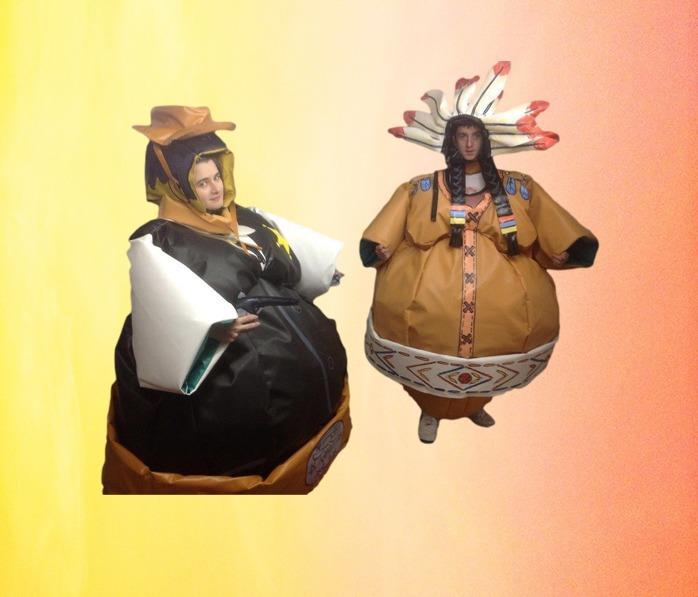Cowboy and Indian Sumo Suits 1304