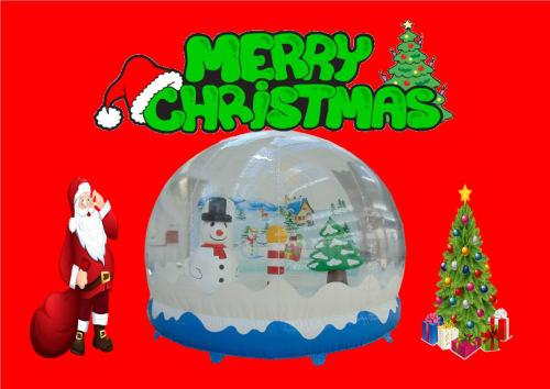 Christmas Bouncy Castle Globe 1298